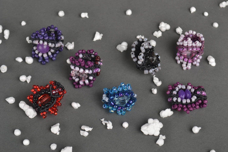 anillos Anillos hechos a mano de abalorios accesorios de moda bisutería artesanal , MADEheart.com