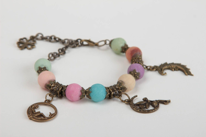 Beautiful handmade beaded bracelet gemstone bracelet fashion accessories photo 3