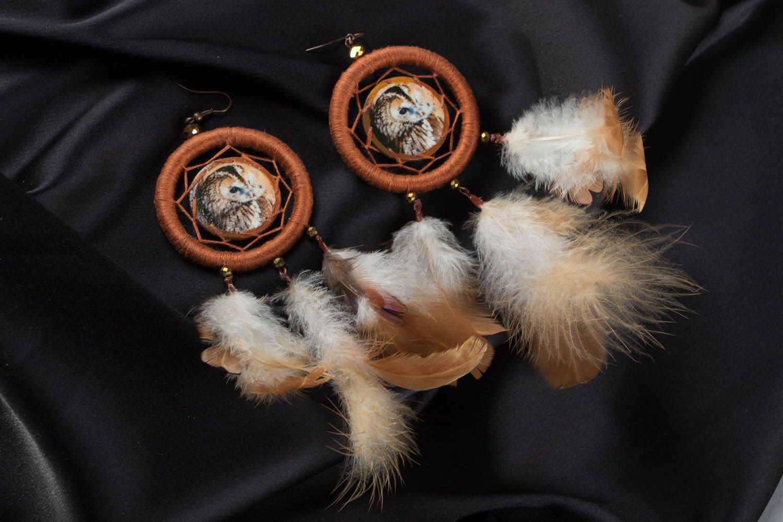 Earrings of unusual shape Dreamcatcher photo 1