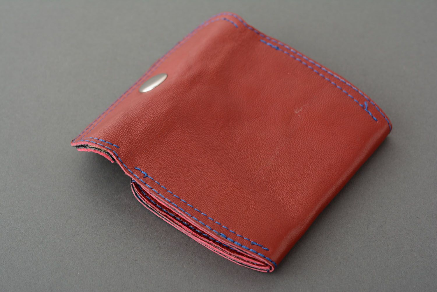 Leather wallet for coins photo 4