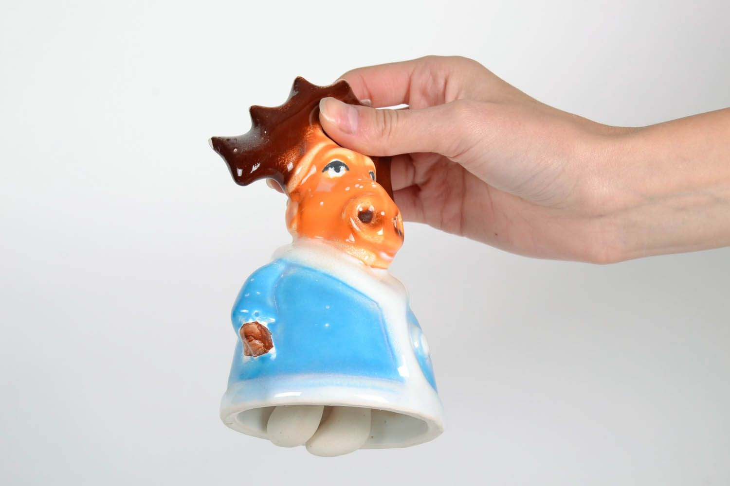 Ceramic bell in the shape of a deer photo 2