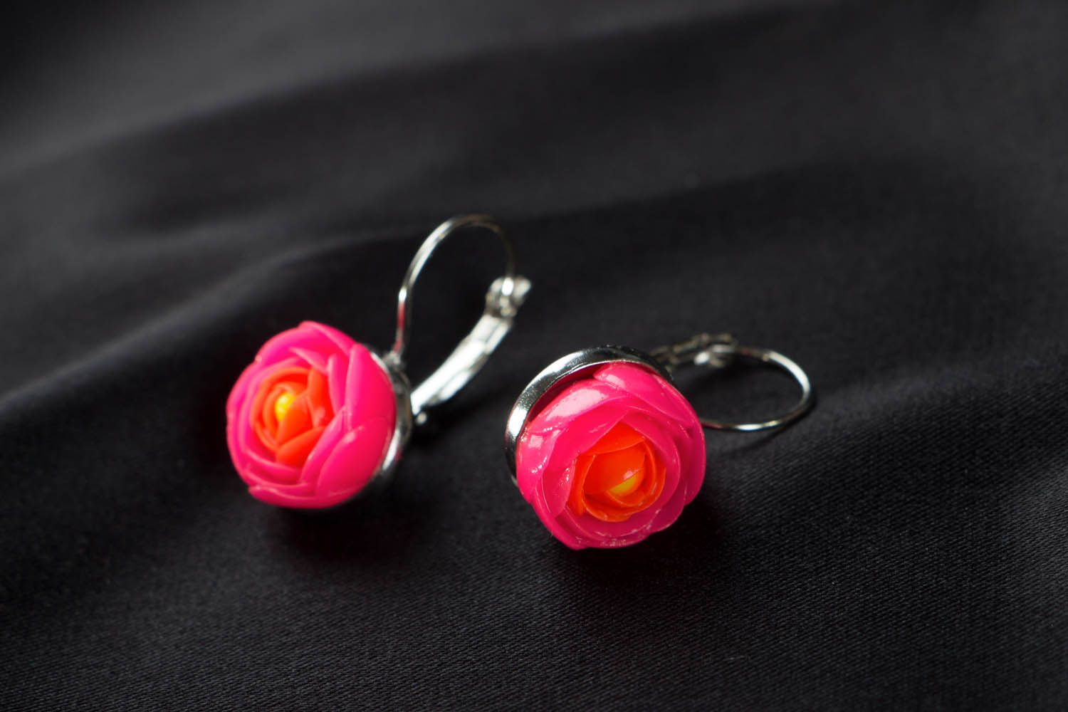 Bright polymer clay earrings  photo 2