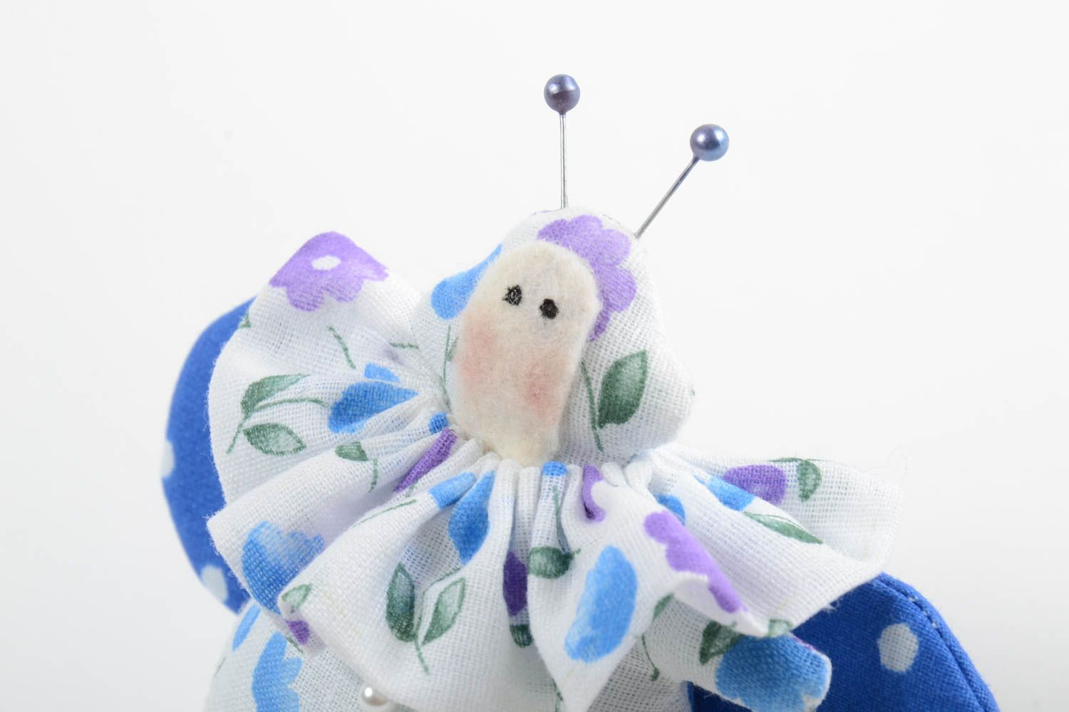 Beautiful homemade fabric toy stuffed soft toy collectible rag doll gift ideas photo 5