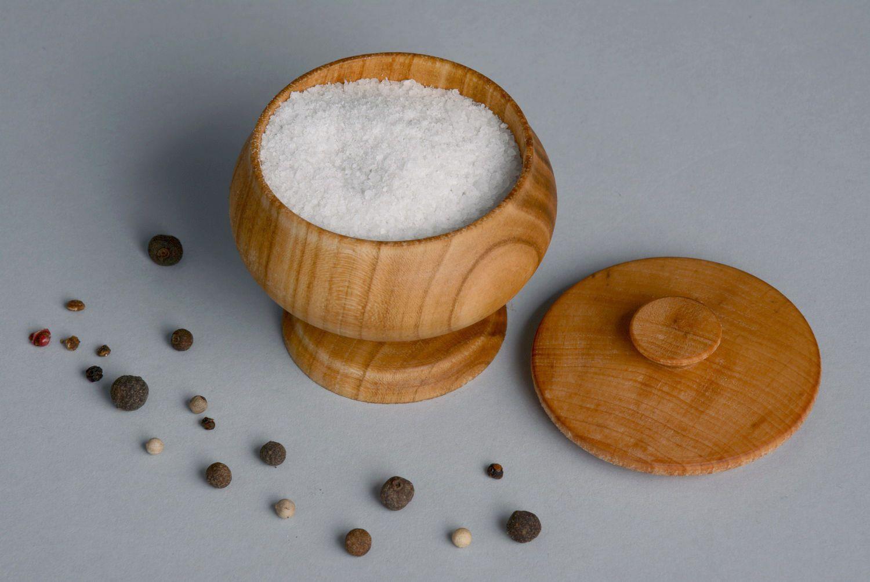 Madeheart Saleiro Pote De Tempero De Madeira ~ Potes Decorativos Para Cozinha