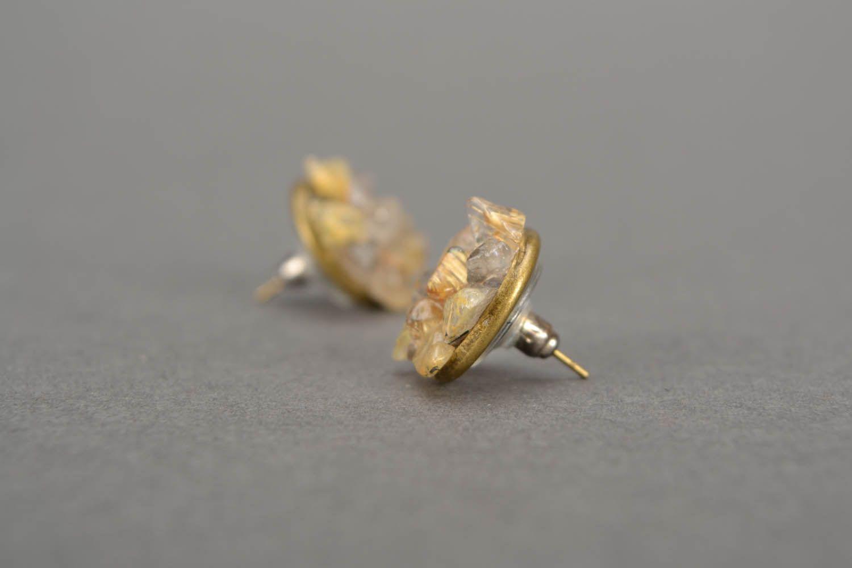 Quartz stud earrings  photo 5