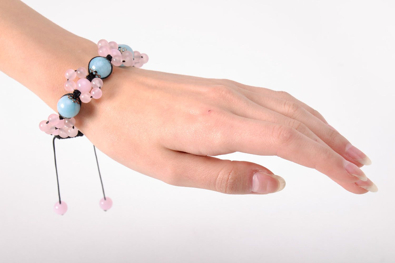 Homemade bracelet with natural stones photo 5