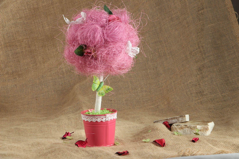 Pink topiary made of natural materials photo 5
