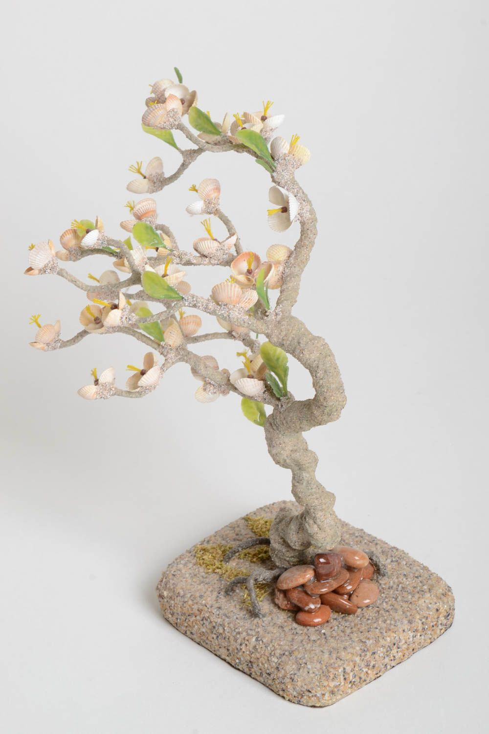 Handmade tree with flowers table decor gift ideas artificial tree home decor photo 4