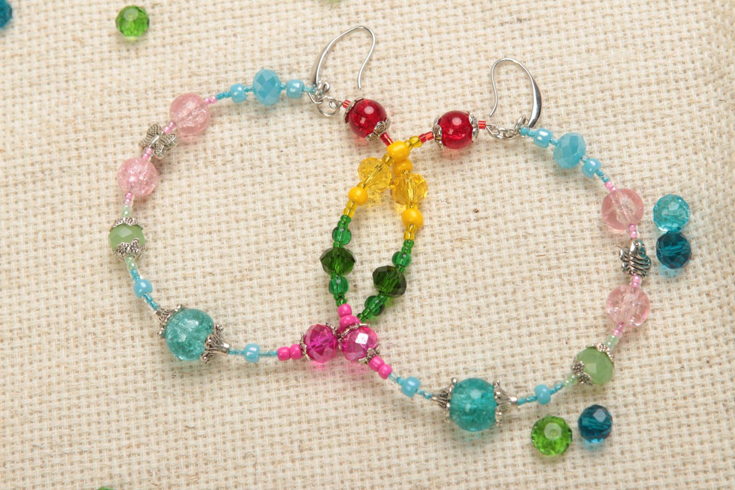 Colorful stylish handmade metal hoop earrings fashion accessories gifts for her photo 1