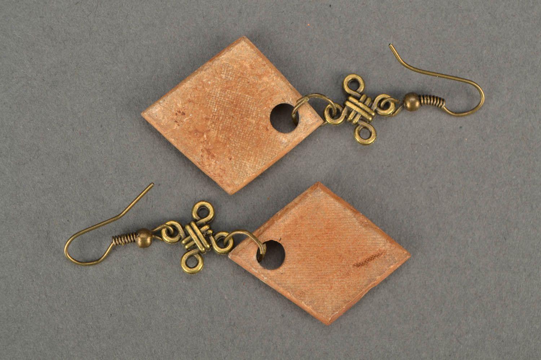 Square earrings photo 4