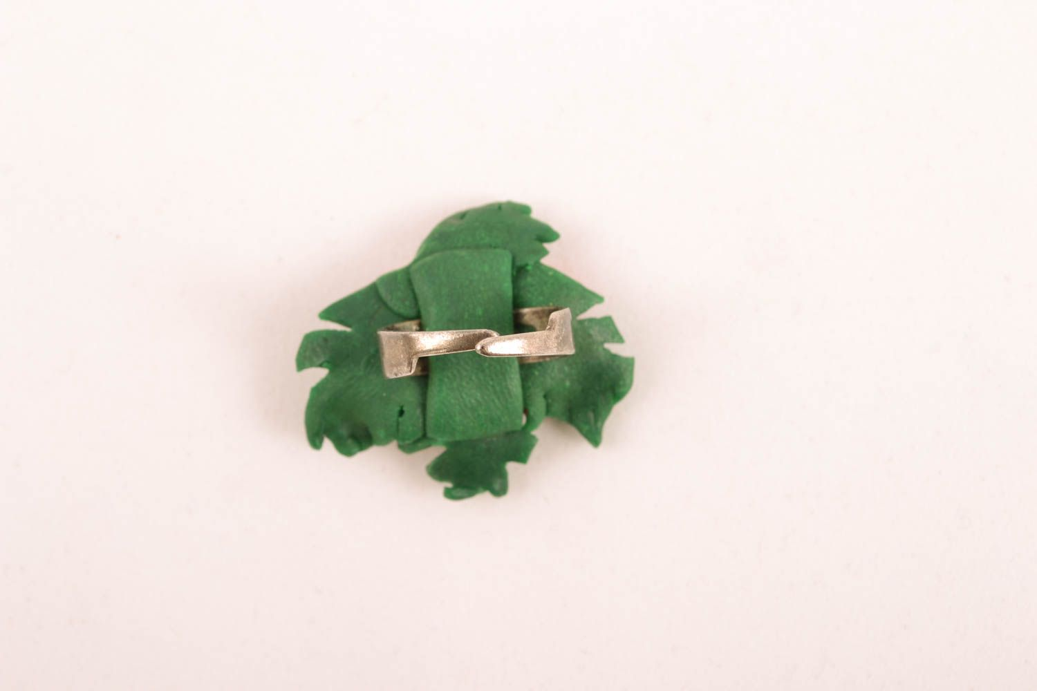 Unusual polymer clay ring photo 2