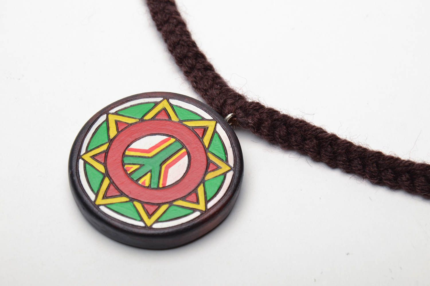 Homemade wooden pendant Pacific photo 3