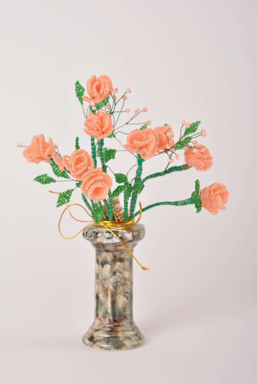Deko Blumen Handmade Deko Schöne Dekoration Deko Blüten Dekoration  Wohnzimmer Aus Rocailles   MADEheart.com