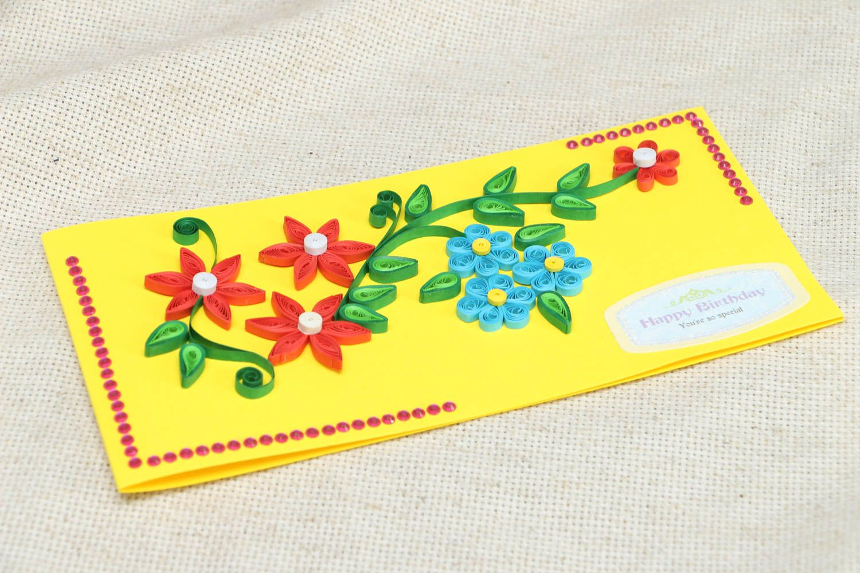 Handmade greeting card Happy Birthday photo 3