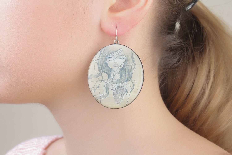 Runde Ohrringe mit Fotoprint foto 1