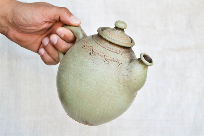 tea pots and coffee pots Handmade clay tableware ceramic teapot tea handmade tableware ethnic pottery - MADEheart.com