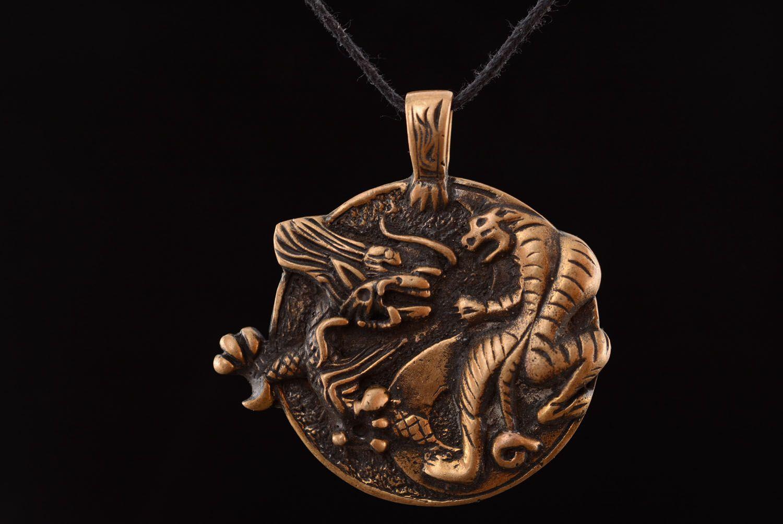 Bronze pendant Yin and Yang Tiger  photo 3