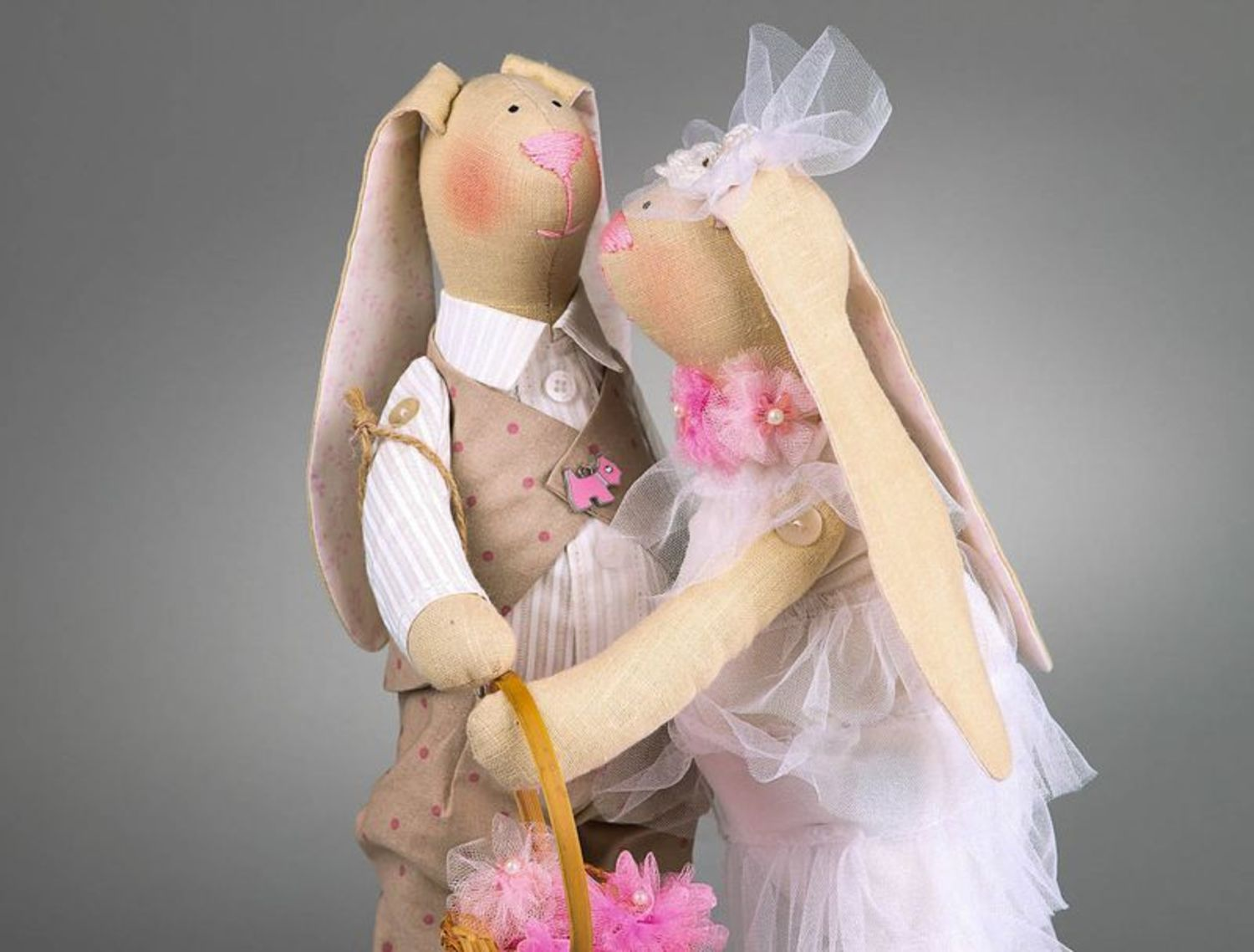 Set of soft toys Just married photo 5