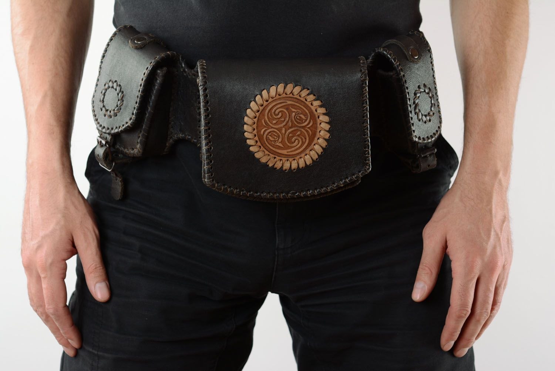 Men's Bags Men's leather belt bag - MADEheart.com
