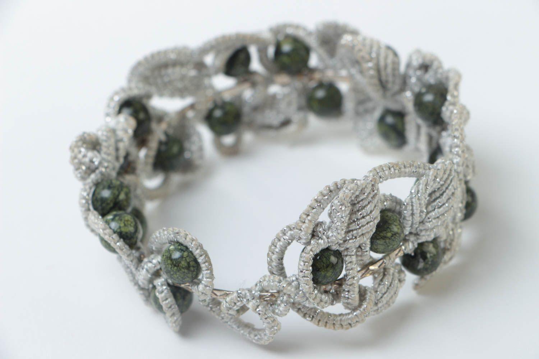 Armband aus Stoff handgemacht Damen Armband effektvoll Schmuck für Frauen foto 4