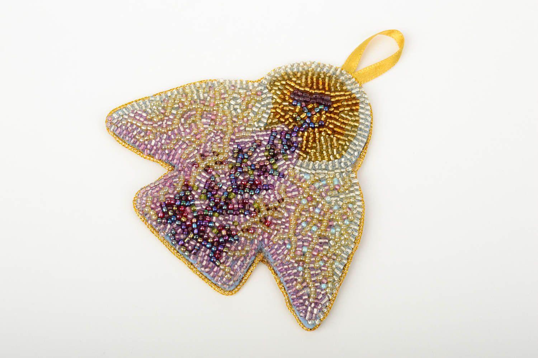 Decoration De Noel Fait Main Ange A Suspendre En Perles De Rocaille Deco Maison