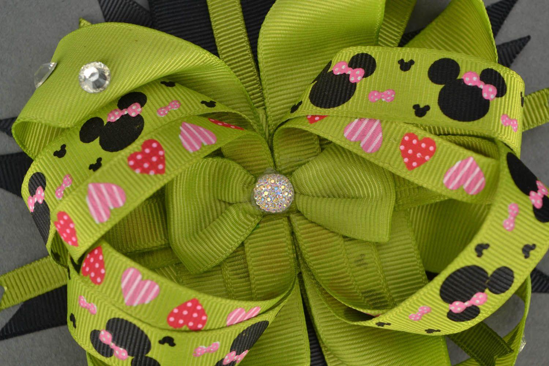 Hair clip made of ribbons photo 5