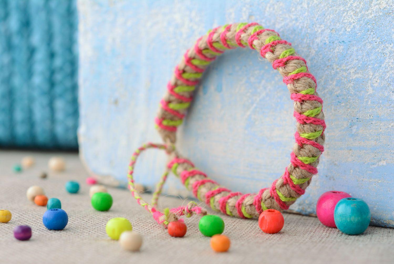 Multicolored braided friendship bracelet photo 1