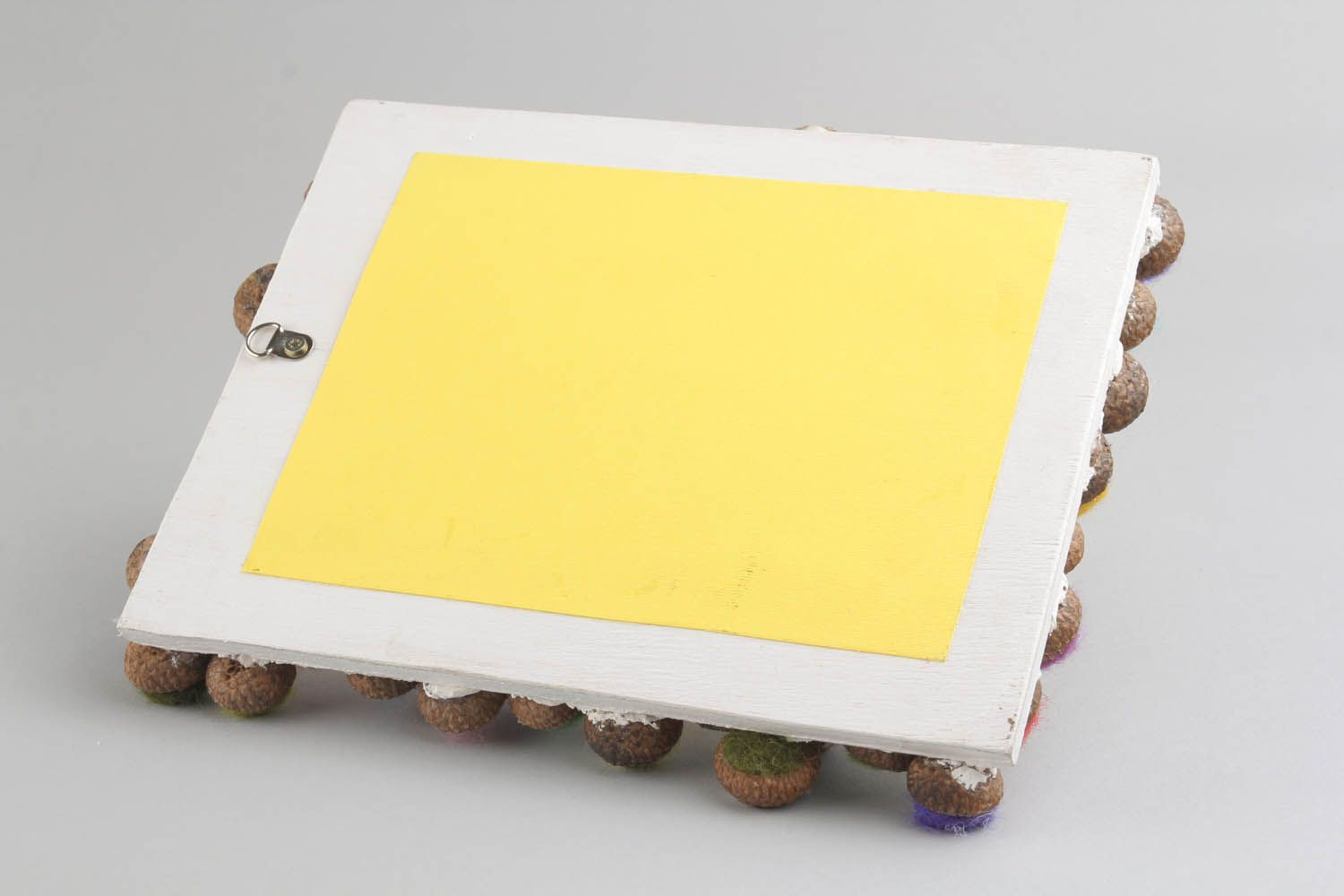 Photo frame made of wood and wool photo 5