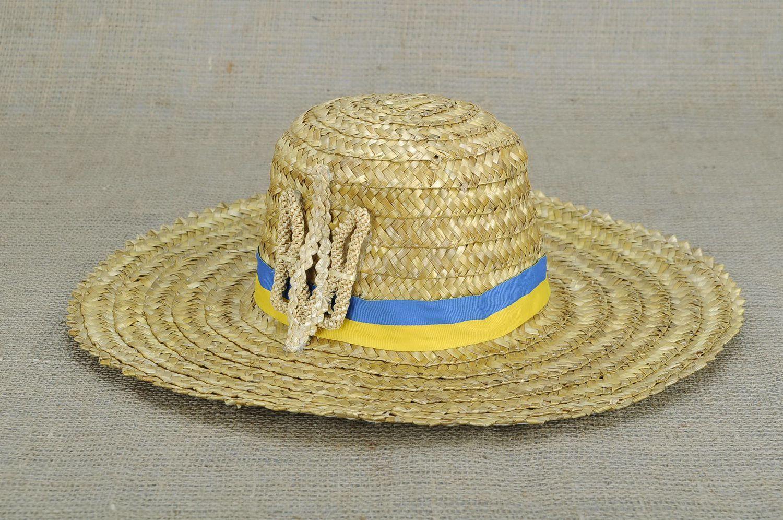 headwear Hat decorated with Ukrainian symbolics - MADEheart.com