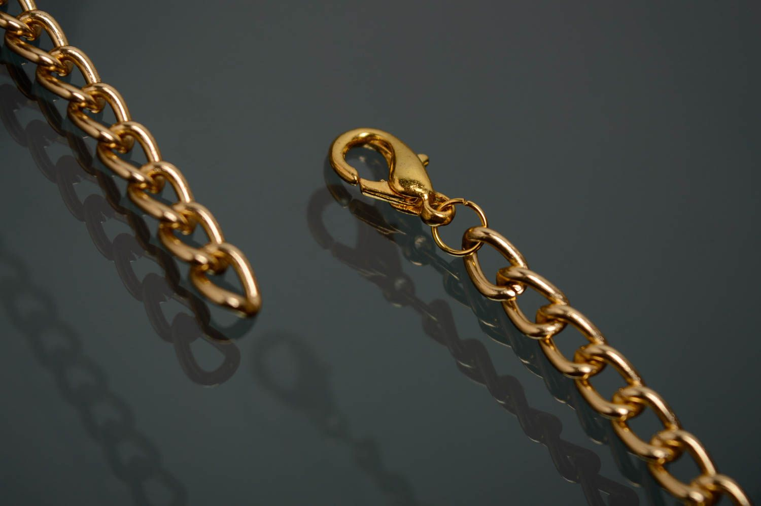 Woven necklace with metal studs photo 5