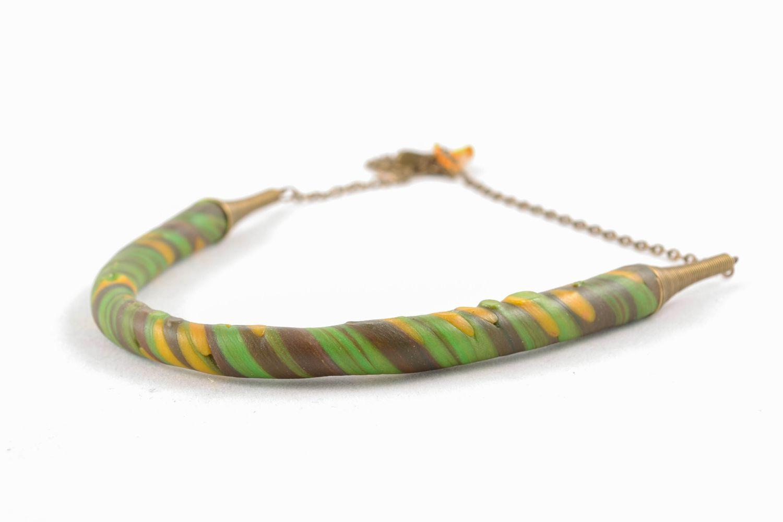 Handmade polymer clay necklace photo 4
