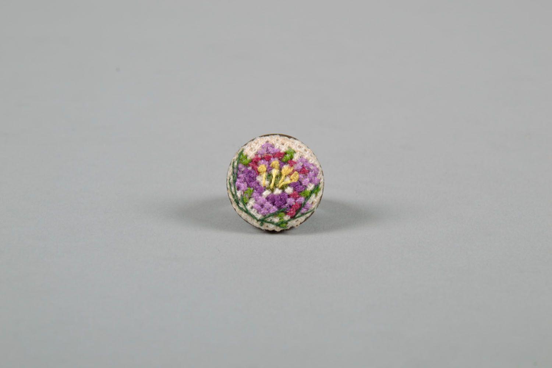 Круглое кольцо фото 2