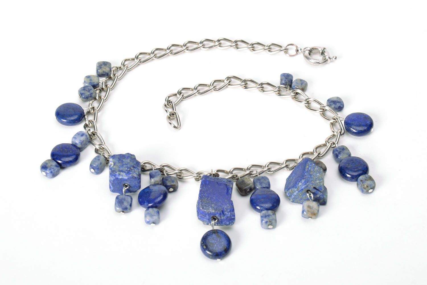 Necklace with lazurite photo 5