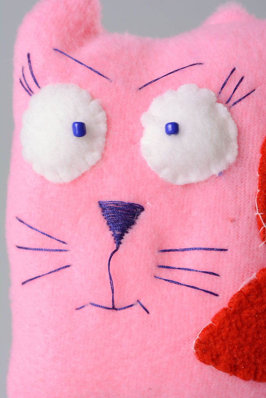 Fabric fleece toy Cat in Love photo 2