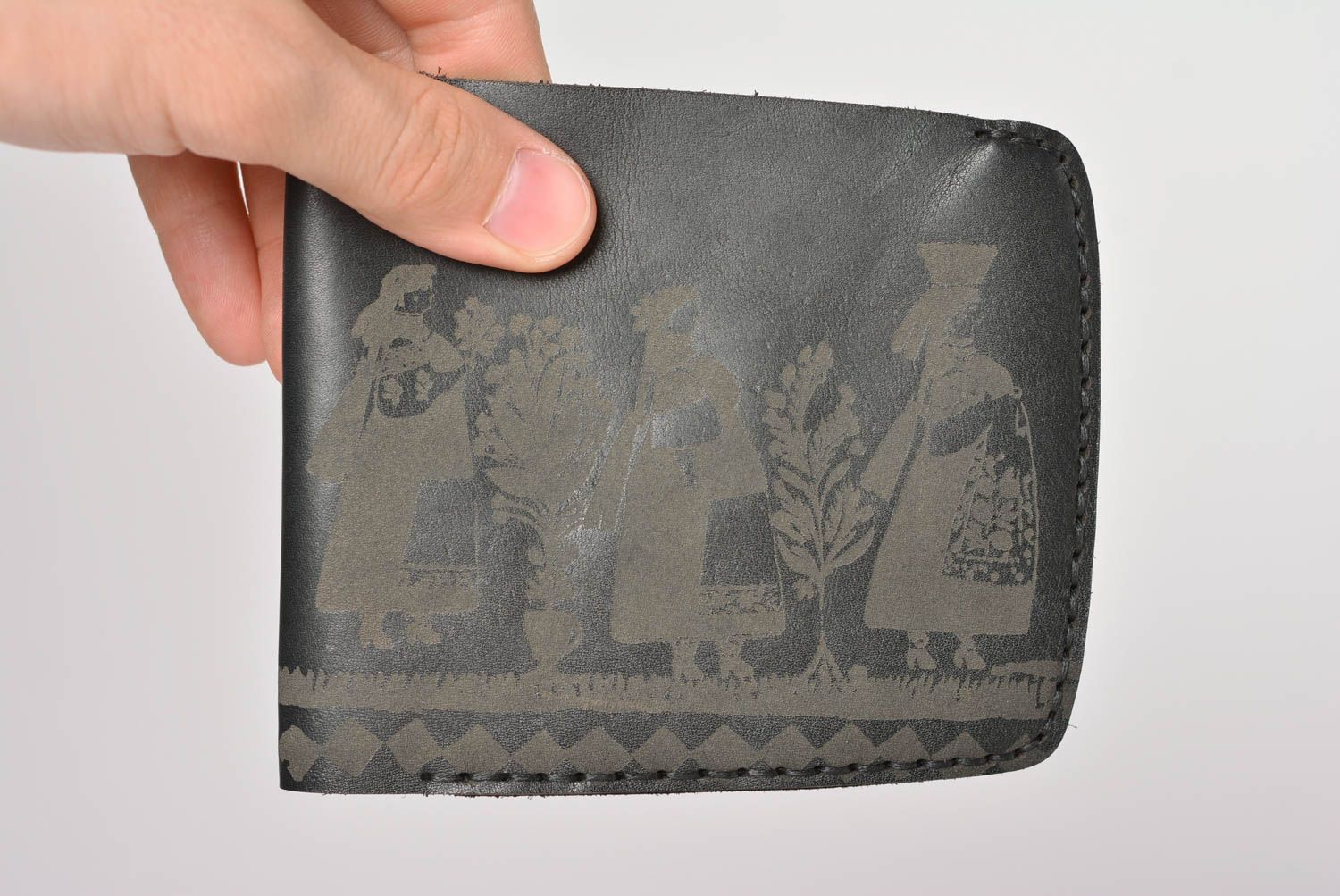Handmade leather wallet designer wallets leather purses handmade leather goods photo 4