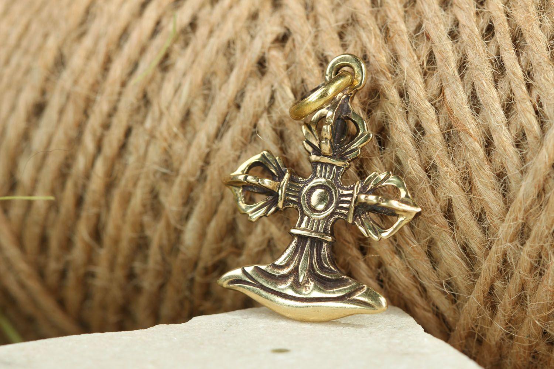 Bronze pectoral cross photo 4
