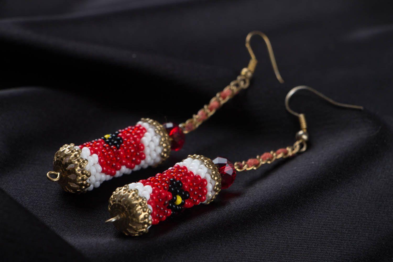 Long beaded earrings photo 2