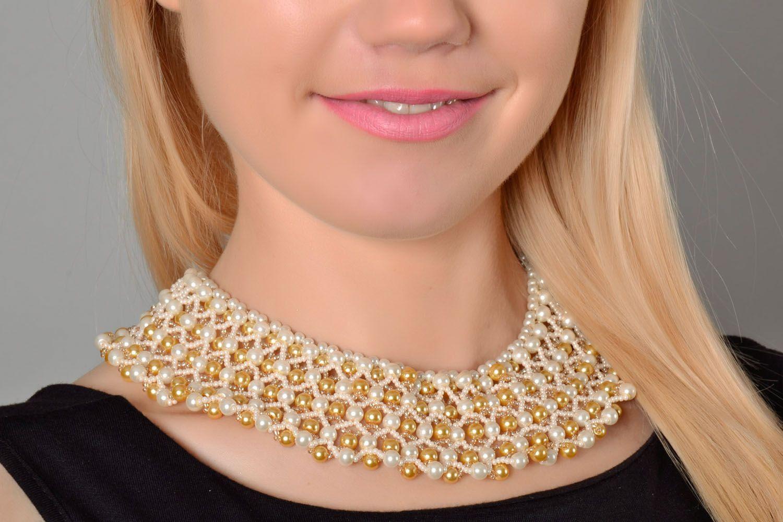 Multi-row beaded necklace photo 1