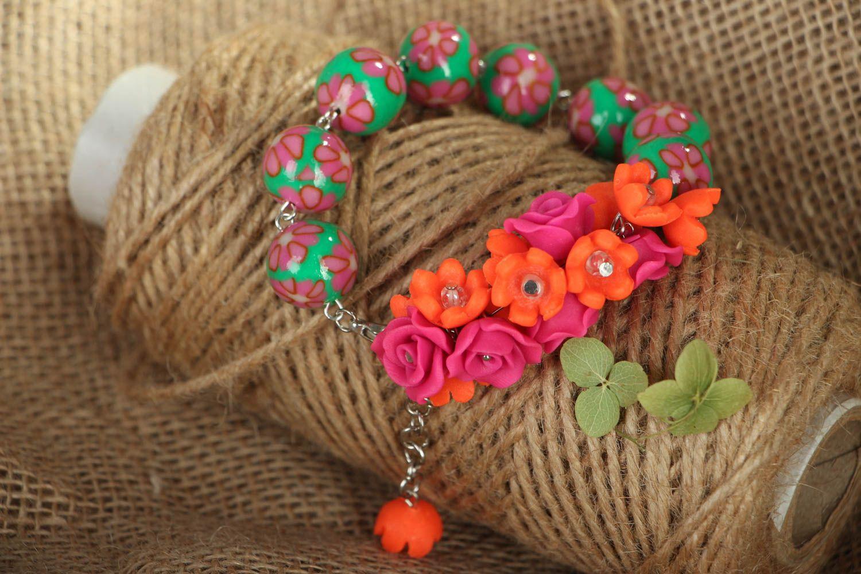 Polymer clay bracelet photo 5