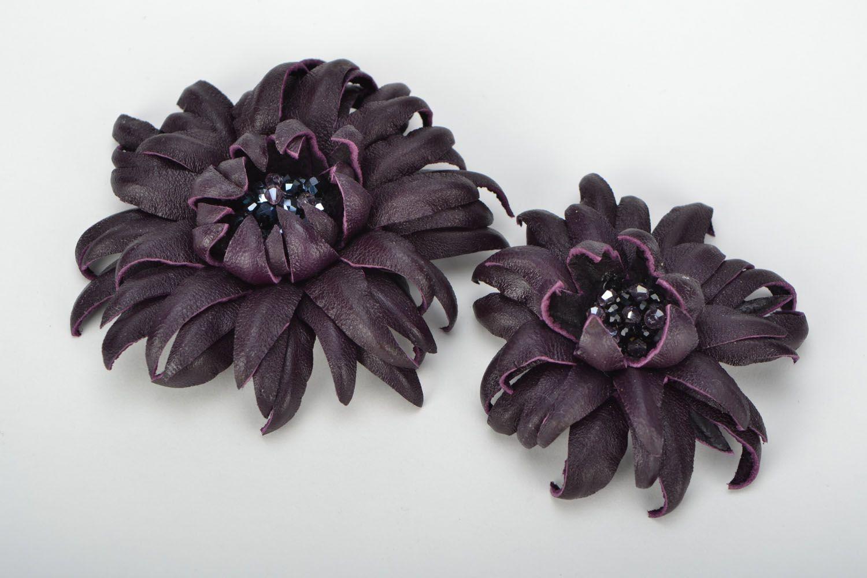Broschen Set Granat in Violett foto 1