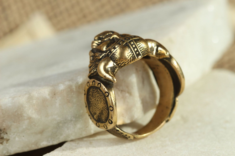Кольцо из бронзы Викинг  фото 2