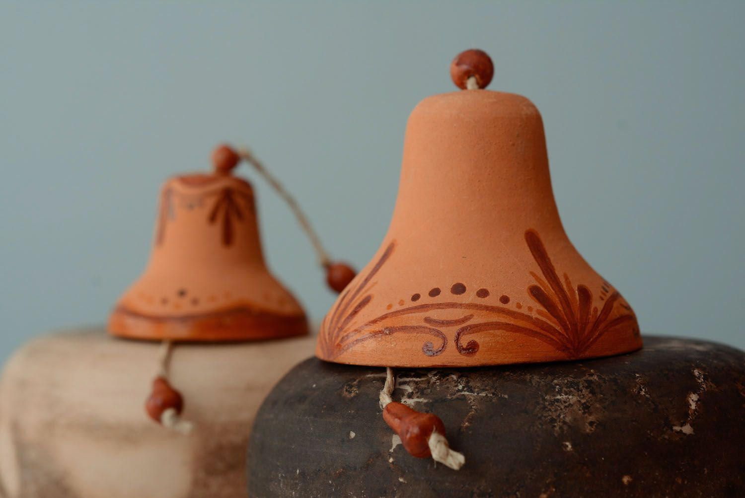 Set of ceramic bells photo 1