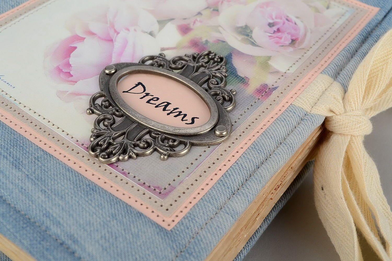 Vintage notebook Dreams photo 2