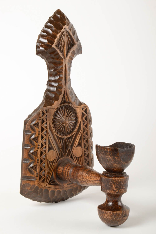 Madeheart candelero de madera hecho a mano decoraci n de hogar soporte para velas - Soporte para velas ...