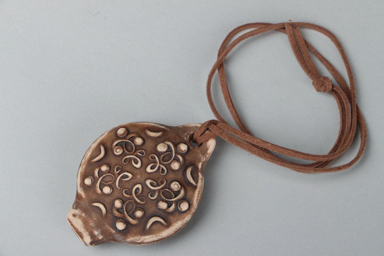 Clay pendant whistle photo 1