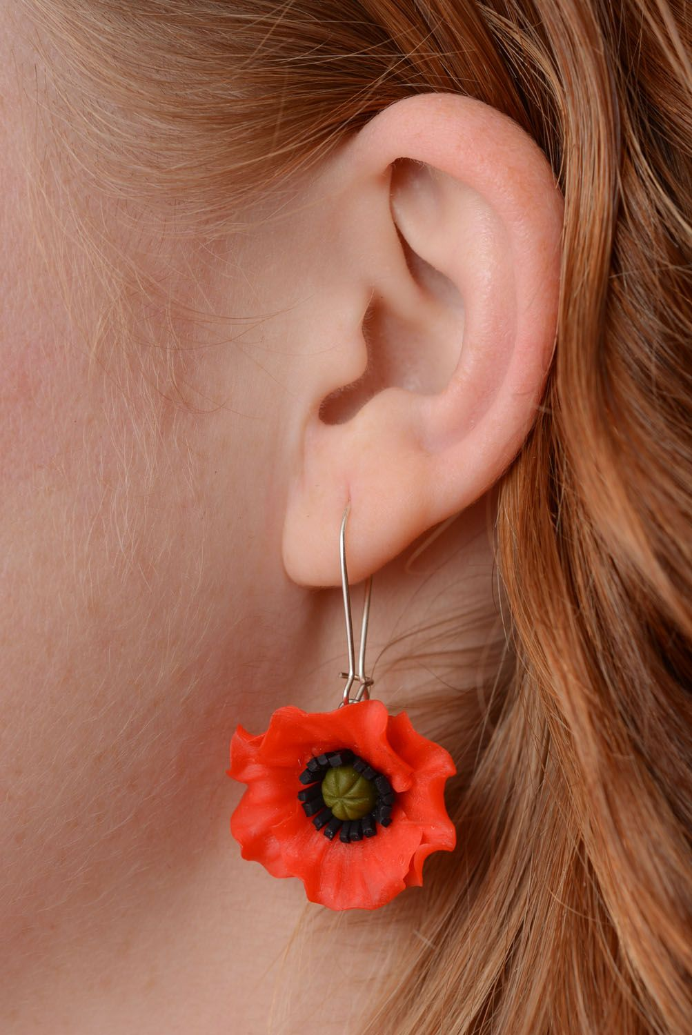 Earrings made of polymer clay photo 5