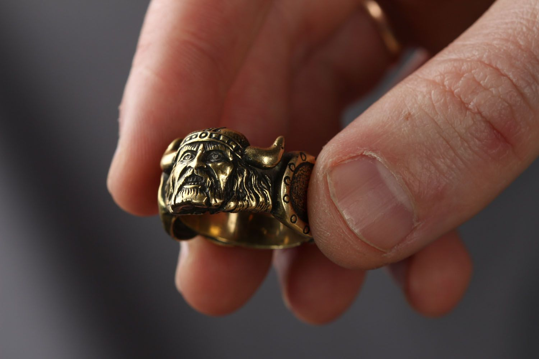 Кольцо из бронзы Викинг  фото 3