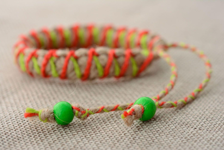 Kid's jute bracelet photo 2