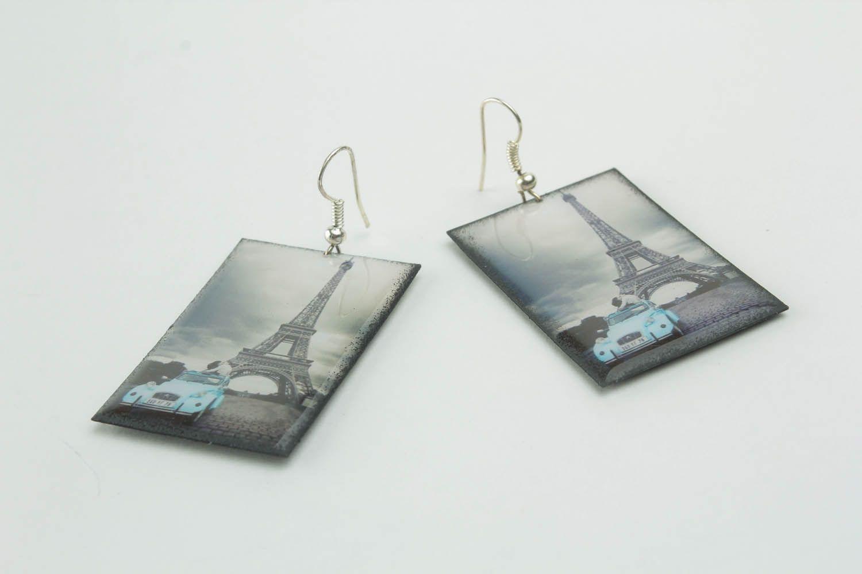 Photo earrings Eiffel Tower photo 3
