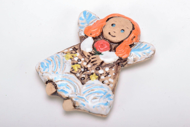 Ceramic fridge magnet Fairy photo 2